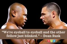 """""""We're eyeball to eyeball and the other fellow just blinked."""" ~ Dean Rusk"""