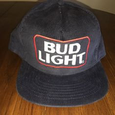 23a3384e84b VTG Bud Light Budweiser Embroidered Snap Back Hat Blue USA Made Blue  Corduroy FS  fashion  clothing  shoes  accessories  mensaccessories  hats (ebay  link)