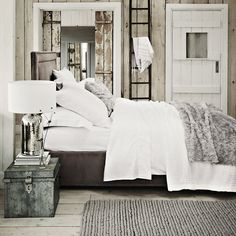 Textured Faux Fur Throw - Silver | The White Company