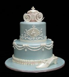 Elegant Cinderella Cake... This is it. THE cake! One day, when I get married, I WILL have this cake. :]]]