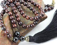 Mala Beads Jasper Mala Beads Gemstone Mala by goodmedicinegemstone