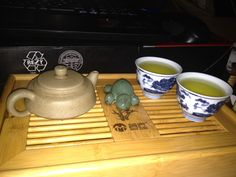 Green tea in my favourite duanni. Turtle is getting a lot of love since I rediscovered him! I should make more for tea friends...