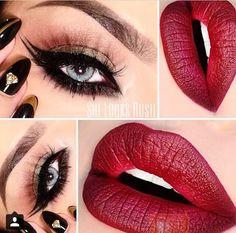 #makeup #eyeliner #redlips