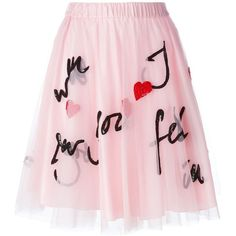 P.A.R.O.S.H. Sequin Embellished Tulle Skirt ($427) ❤ liked on Polyvore featuring skirts, bottoms, pink tulle skirt, pink sequin skirt, tulle skirt, p.a.r.o.s.h. and knee length tulle skirt