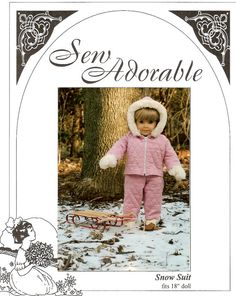 Snow Suit Pattern for 18 American Girl by LetsPretenDollFashon
