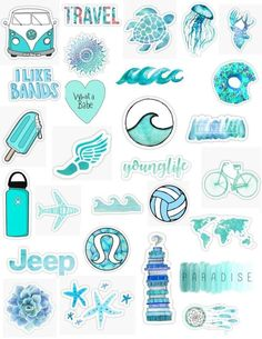VSCO Girls Light Blue Yellow Stickers for Bottle Phone Case Laptop Tumbler 23 Pcs Tumblr Stickers, Phone Stickers, Cute Stickers, Macbook Stickers, Printable Stickers, Planner Stickers, Iphone Wallpaper Vsco, Macbook Wallpaper, Computer Wallpaper