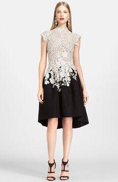 Oscar de la Renta Lace & Silk Dress available at #Nordstrom