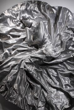 Meticulously Wrapped Aluminum Wire Sculptures by Seung Mo Park - SON MYUNG HEE, detail / 2010 / Aluminum wire, fiberglass lifecasting