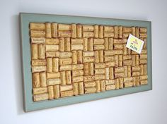 Green Shabby Chic Cork Board by cuteNpaste on Etsy