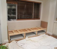 Building A Window Seat With Drawers