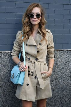 Chiara Ferragni stepped into Fall with her classic trench.