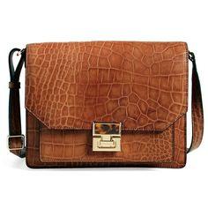 Ivanka Trump 'Hopewell' Leather Shoulder Bag ($197) ❤ liked on Polyvore