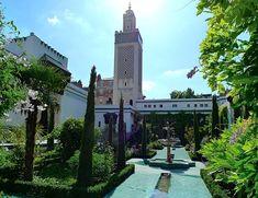 Have a cup of tea at la Grande Mosquee de Paris French Government, Beautiful Mosques, Paris Love, Paris Restaurants, Grand Mosque, Islamic Architecture, Place Of Worship, Wonderful Places, Oasis