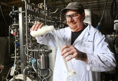 Bruce Applegate, Purdue associate professor in the Department of Food Science, and collaborators from Purdue and the University of Tennessee - extending milk shelf life. (photo via Purdue Agriculture Communication photo/Tom Campbell)