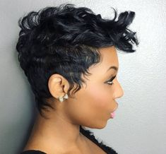 Best Ideas For Short Haircuts : Gorgeous cut by – blackhairin… - All For Hairstyles Short Sassy Hair, Short Hair Cuts, Pixie Cuts, Short Afro, Pixie Bob, Short Pixie Haircuts, Cute Hairstyles For Short Hair, Cut Hairstyles, Trendy Hairstyles