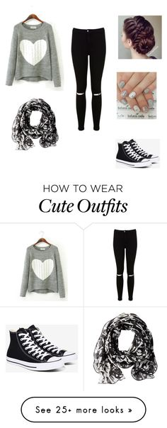 """My First Polyvore Outfit"" by hikmahogunlana on Polyvore featuring Miss Selfridge, Converse and Calvin Klein"