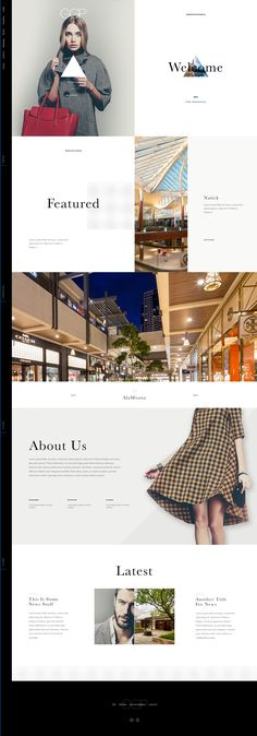 """Unused exploratory concept inspired by a magazine layout with 50/50 """"spreads"""". Ui design concept by Elegant Seagulls."""