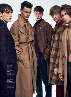 Photographer Zeb Daemen and stylist Jan Kralicek join creative forces on a men's editorial for Elle Czech Republic. The pair captures Slovakian talent, beginning with cousins Jozef and Filip Hrivnak. Photoshoot Themes, Men Photoshoot, Man Photography, Fashion Photography, Poses For Men, Male Magazine, Fashion Poses, Fashion Outfits, Foto Pose