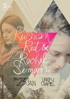 Russian Red live Poster - hand-drawn type