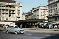 Zürich Paradeplatz on August 1, 1965. Foto: Aubrey Diem (Keystone)