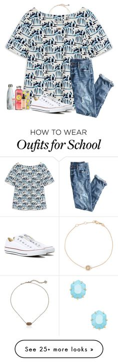 •day 2• last day of school// by leawhite on Polyvore featuring Tory Burch, Casetify, Kendra Scott, MAC Cosmetics, Too Faced Cosmetics, Astley Clarke, J.Crew, Converse and schoolsoutmadiandashe