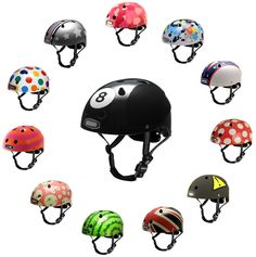 seriously cool bike helmets originally seen in lmnop magazine http://store.nutcasestore.com/gen2helmets.html