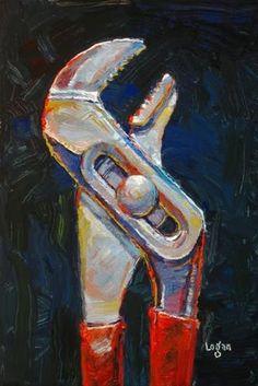 """Channel Locks"" - Original Fine Art for Sale - © Raymond Logan"