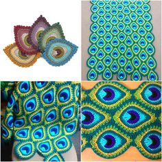 See the best ideas for a Crochet Peacock dot with Yarn