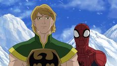 ultimate spiderman iron fist | ultimate spider man produced by marvel animation and film roman