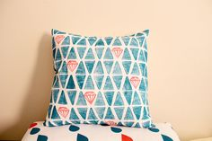 Blockprinted cushion by Whimsy Milieu
