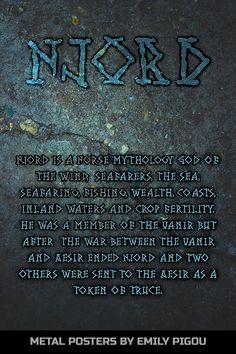 Bragi Norse Mythology by Emily Pigou. Metal posters inspired by Norse mythology Norse Mythology Tattoo, Loki Mythology, Norse Pagan, Norse Goddess, Viking Quotes, Norse Vikings, Viking Art, History Channel, Knights Templar