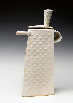 """""""White Teapot"""" Ceramic Teapot - Mary Obodzinski"""