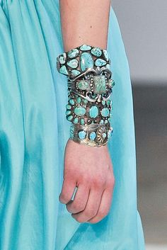 Turquoise Silver cuffs on the runway / Native American ♥