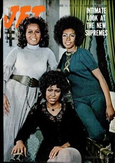 The Supremes on the cover of Jet Magazine. Jet Magazine, Black Magazine, Diana Ross, Ebony Magazine Cover, Magazine Covers, Sara Pichelli, Essence Magazine, Vintage Black Glamour, My Black Is Beautiful