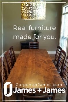 Choose your style and James+James Furniture will build your table for you and bring it to you with delivery and shipping options. The perfect place to gather friends and family for years to come in your formal dining room, kitchen nook, or open concept space. Click to customize! We'll build the table, you make the memories! #Tables  #JamesandJamesFurniture #NorthwestArkansas #Holidays #Furnitureideas #Decorating #DiningRoom #breakfast #kitchen #home #solidwood #industrialsteel #rustic…