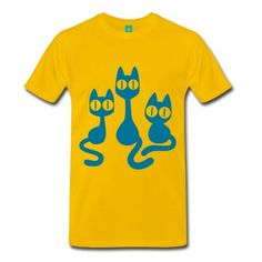 A trio of cute cartoon cats staring straight forward :) by Cheerful Madness!! Vector graphic for flex, flock and direct printing. The colour of the graphic can also be changed.