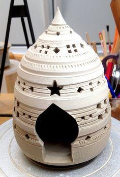 Lantern - white clay