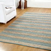 Found it at Wayfair - Hand-Woven Natural/Blue Area Rug