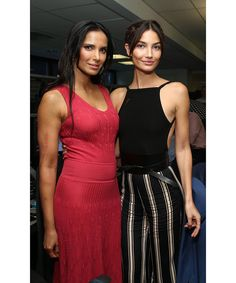 The celebrity-packed day raised $12 million for the Cantor Fitzgerald Relief Fund and charities around the world. Pictured: Padma Lakshmi, Lily Aldridge.
