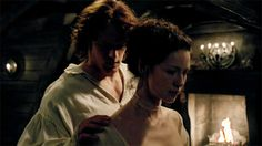 "Pin for Later: 28 Times Outlander's Claire and Jamie Gave Us Unrealistic Relationship Goals When Jamie Is All, ""Damn, This Is One Fine Shoulder"" and You're All, ""Damn, He's Right"""