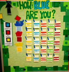 Classroom behavior chart.