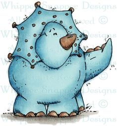Whipper Snapper Designs is an expansive online store selling a large variety of unique rubber stamp designs. Cartoon Monsters, Dinosaur Funny, Baby Clip Art, Happy Paintings, Digi Stamps, Cute Images, Watercolor Cards, Whimsical Art, Painting For Kids
