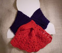 Americana looped through scarf free crochet pattern