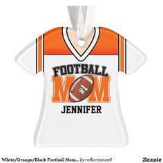 White/Orange/Black Football Mom Jersey
