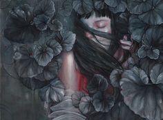 Natural, feminine illustrations by Marjolein Caljouw