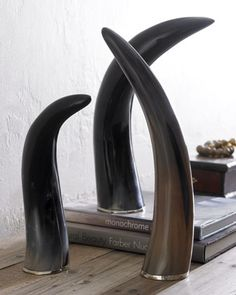 Three Faux Horns by Arteriors at Horchow.