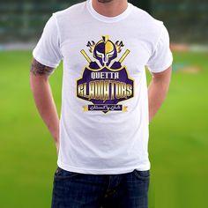 ae8fbb8d1d1cdf PSL Quetta Gladiators White T-shirt for Men Online in Pakistan