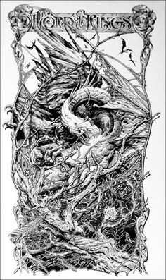 Aaron Horkey - Lord of the Rings: Return of the King, ink