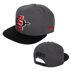 60f1764a SD Spear Flatbill Hat Adjustable flatbill snapback hat featuring a 3-D  embroidered interlocking SD Spear logo on the front and Aztecs on the back.  $29