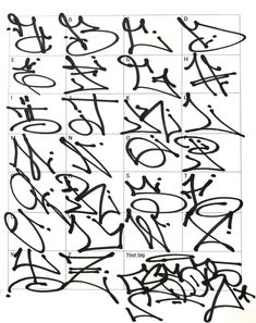 Graffiti Letters 61 graffiti artists share their styles Bombing Science Graffiti Alphabet Styles, Graffiti Lettering Alphabet, Tattoo Lettering Fonts, Graffiti Styles, Lettering Styles, Cool Graffiti Letters, Calligraphy Alphabet, Islamic Calligraphy, Graffiti Doodles